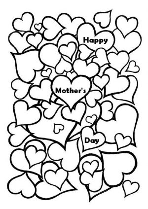 Free Mother's Day Coloring Pages for Adults to Print Out – 77389
