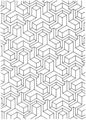 Free Tessellation Coloring Pages Adult Printable – 82648