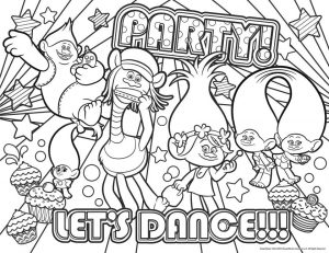 Free Trolls Coloring Pages All Trolls Like to Dance and Party