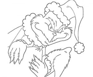 Grinch Coloring Pages for Adults Grinch Looking Very Mean