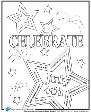 Happy 4th of July Coloring Pages for Toddlers – ycv31