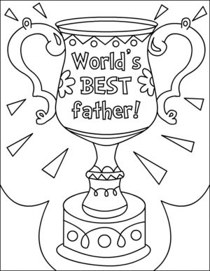 Happy Father's Day Coloring Pages – c6219