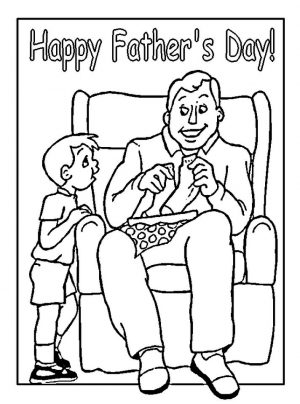 Happy Father's Day Coloring Pages – cya73