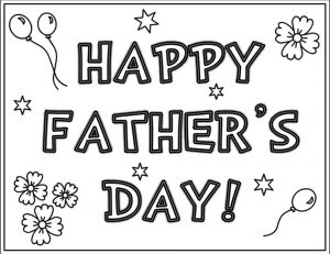 Happy Father's Day Coloring Pages – mlp23