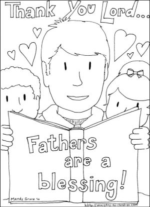 Happy Father's Day Coloring Pages to Print – ct39a