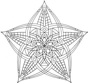 Hard Geometric Coloring Pages to Print Out – 15739