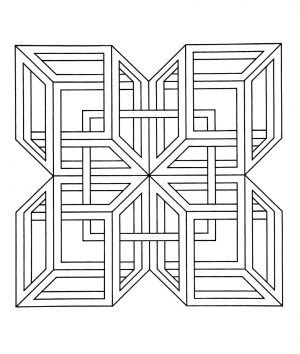 Hard Geometric Coloring Pages to Print Out – 25781
