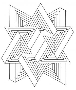Hard Geometric Coloring Pages to Print Out – 36712