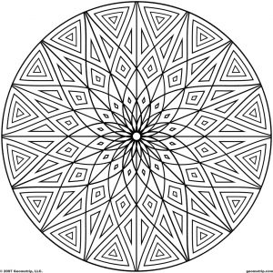 Hard Geometric Coloring Pages to Print Out – 69031