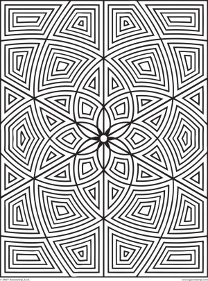 Hard Geometric Coloring Pages to Print Out – 76391