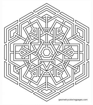 Hard Geometric Coloring Pages to Print Out – 97316