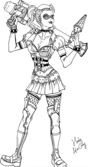 Harley Quinn Coloring Pages Online 2grt