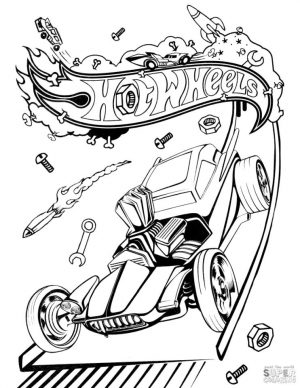 Hot Wheels Coloring Pages 5wel