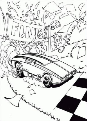 Hot Wheels Coloring Pages Race Car to Print 8fns