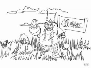 How to Train Your Dragon Coloring Pages Gobber the Belch
