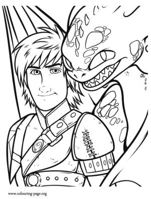How to Train Your Dragon Coloring Pages Printable Hiccup and Toothless the Inseparable Duo