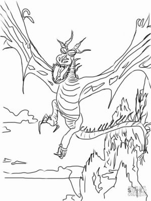 How to Train Your Dragon Coloring Pages The Weird Dragon from the Movie