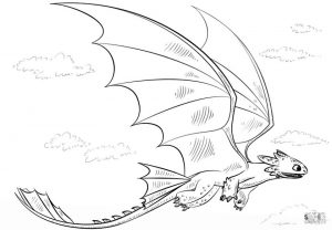 How to Train Your Dragon Coloring Pages Toothless Is A Night Fury