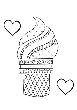Ice Cream Coloring Pages Free 009c