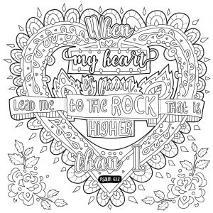 Inspirational Coloring Pages Free Faint Heart