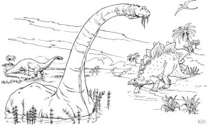 Jurassic World Coloring Pages Brontosaurus 7brt
