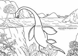 Jurassic World Coloring Pages Lochness 6lch