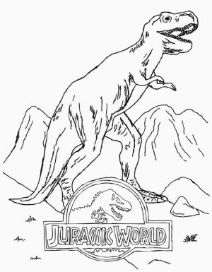 Jurassic World Coloring Pages T Rex 7trx