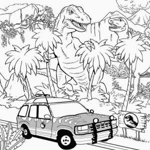 Jurassic World Coloring Pages for Grown Ups 3fgu