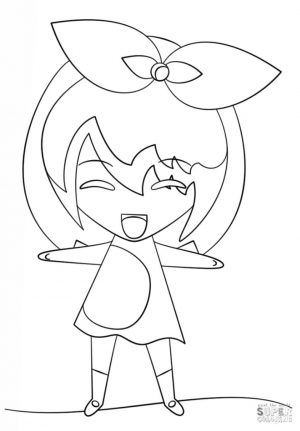 Kawaii Anime Girl Coloring Pages