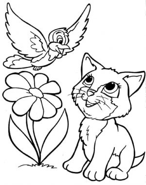 Kitten Coloring Pages Kids Printable – 3sda1 – new