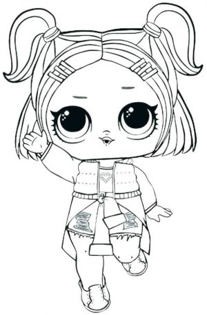LOL Dolls Coloring Pages for Girls csl4