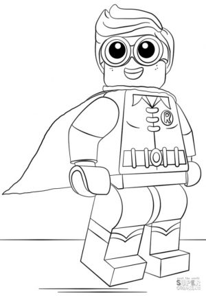 Lego Batman Coloring Pages Little Innocent Robin