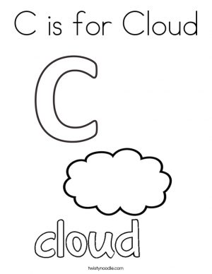Letter C Coloring Pages Cloud – 83nfl