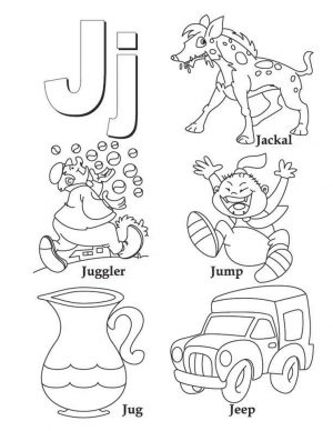 Letter J Coloring Pages – nfl31