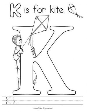 Letter K Coloring Pages Kite – 8931m