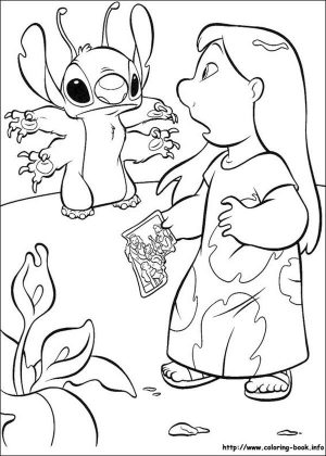 Lilo and Stitch Coloring Pages Lilo Meeting Stitch for the First Time