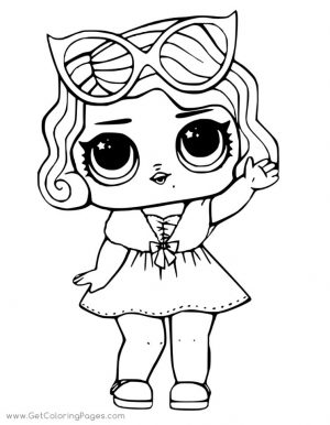 Lol Surprise Doll Coloring Pages Leading Baby lb17