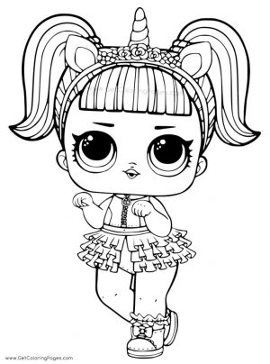 Lol Surprise Doll Coloring Pages Unicorn uc75