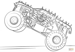 MAX D monster truck coloring page – 74901