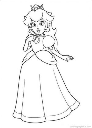Mario Coloring Pages Peach Free to Print – hye3m