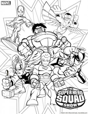 Marvel Coloring Pages Superhero Squad – j3ns0