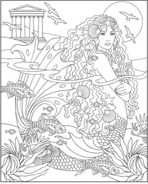 Mermaid Adult Coloring Pages cr11