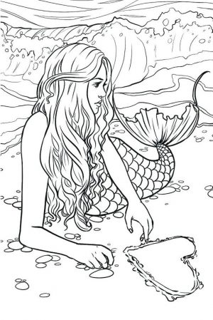 Mermaid Adult Coloring Pages rd83b
