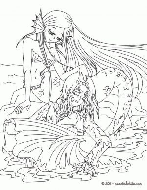 Mermaid Coloring Sheets for Adult dv31