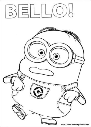Minion Coloring Pages 4zx5