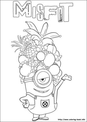 Minion Coloring Pages 6pz7