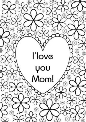 Mother's Day Coloring Pages for Adults Printable – 58301