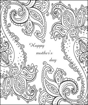 Mother's Day Coloring Pages for Adults Printable – 64781