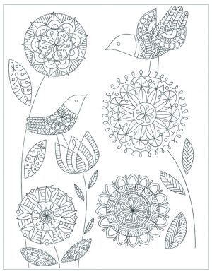 Mother's Day Printable Coloring Pages for Adults – 01291