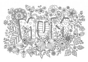 Mother's Day Printable Coloring Pages for Adults – 75011